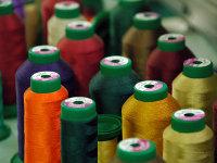 Hilos textiles, de multiples colores