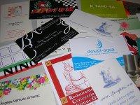 Diversos ejemplos de papel impreso