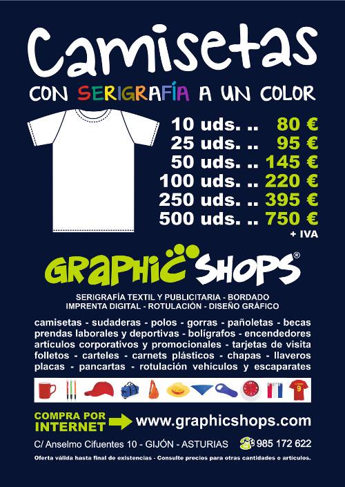 Oferta en camisetas